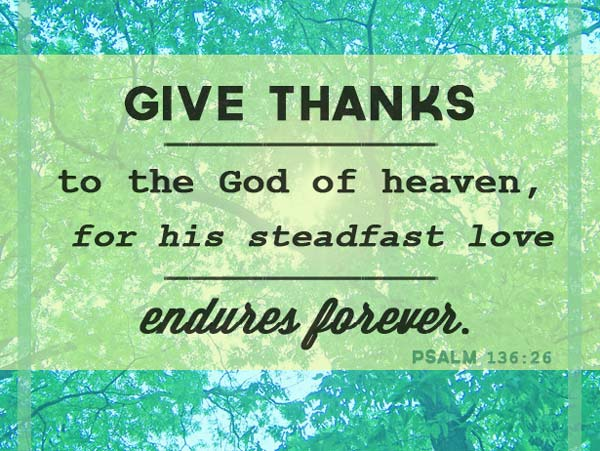 thanksgiving quotes psalm