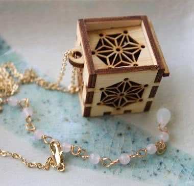 Prayer box necklace