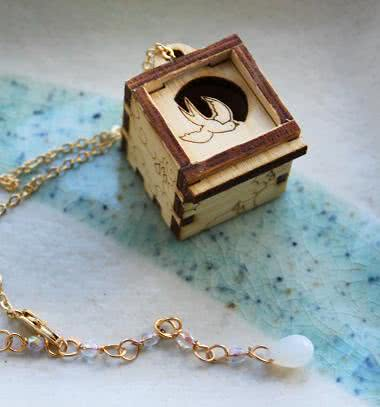 Prayer box necklaces