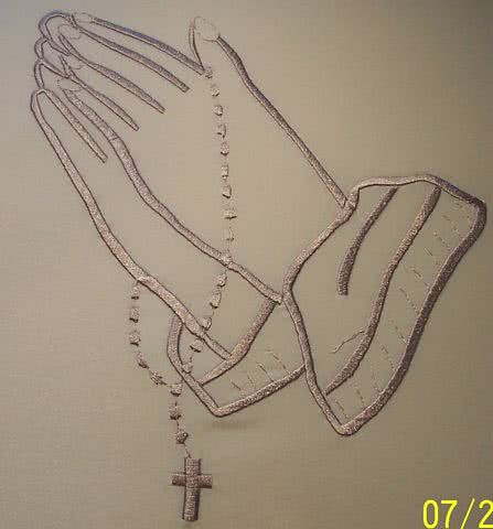 Praying Hands With Rosary Beads Pictures Tattoo Ideas