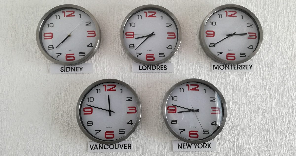 Time Zones – Thursday, April 25th, 2019